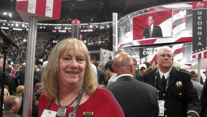 "Chris Yaudas, a delegate from the 7th congressional district, to the GOP convention, said the convention was ""very entertaining and eye-opening."""