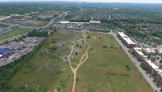 A view of the Northside at McEwen site looking south to Whole Foods
