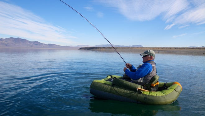 This is a good time of year to use a float tube at Pyramid Lake
