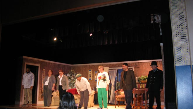"""The cast of """"Murder Weapon"""" received enthusiastic applause from the audience."""