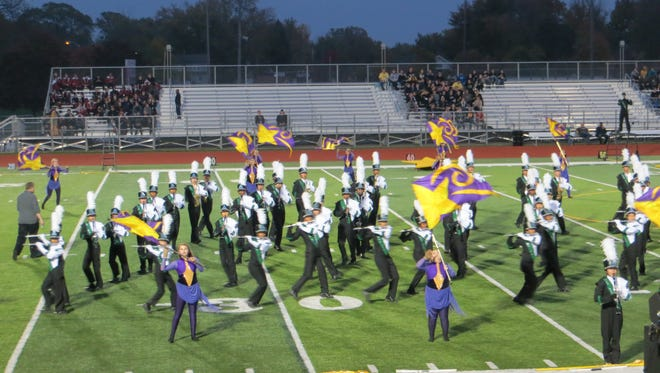The 182-member Novi High School Marching Band directed by Mark Hourigan took second place in Flight I at GLI on Oct. 29 with their award-winning program, The Promise.