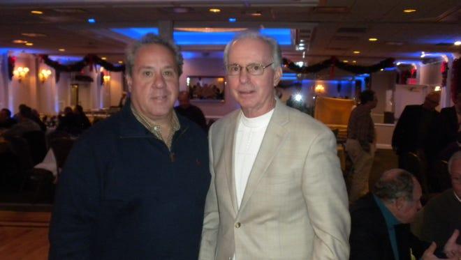 John Senesky (right) and the dinner's coordinator, Phil Agosta.