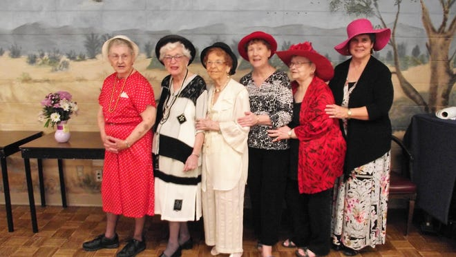 Rio Concho Manor residents participate in Hat Day.