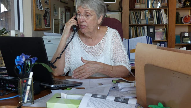 Barbara Mainster works inside her office in Immokalee. She plans to retire in January after 28 years as executive director with Redlands Christian Migrant Association.