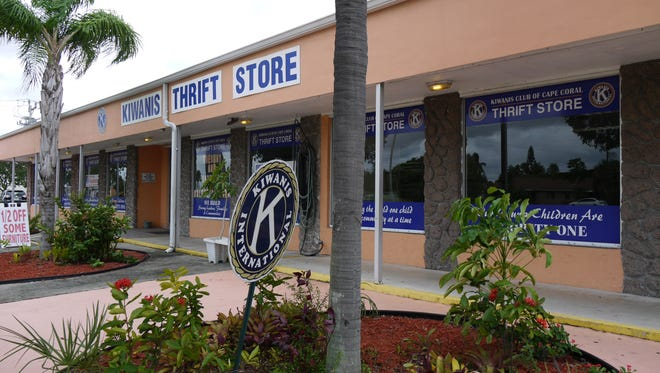 The Kiwanis Club Thrift Store South on 47th Terrace in Cape Coral is one of two stores that generate income so that the Cape Coral Kiwanis may support the community with grants and scholarships.