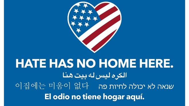 A Hate Has No Home Here vigil has been organized for April 25 at Temple Beth-El in Hillsborough by the leaders of the Stand Up for the Other interfaith initiative against racism, prejudice and hate.