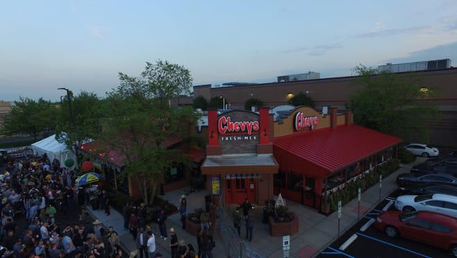 Cinco de Mayo party at Chevys Fresh Mex in Clifton.