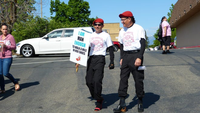 Members of the Shasta County Guardian Angels joined for mile-long walk Saturday.
