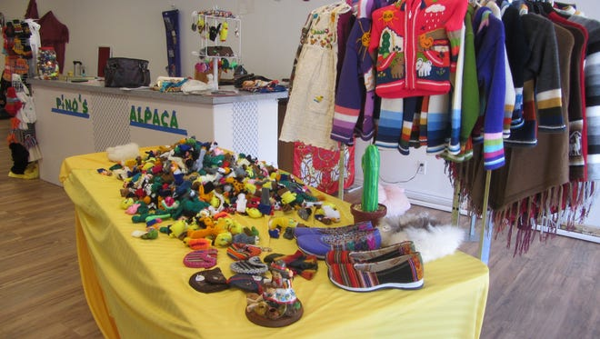 Pino's International, currently open downtown, features items and clothing from Peru, India and Ecuador.