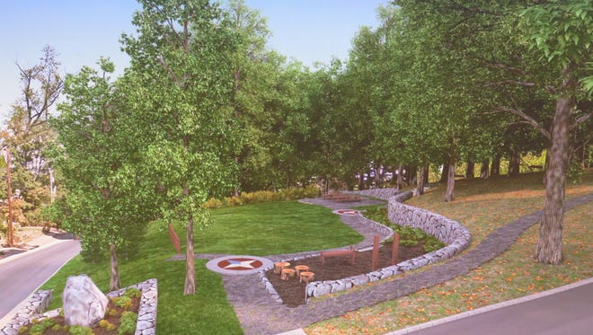 A rendering of the  Kleitman Woods Park project, expected to be completed later this summer.