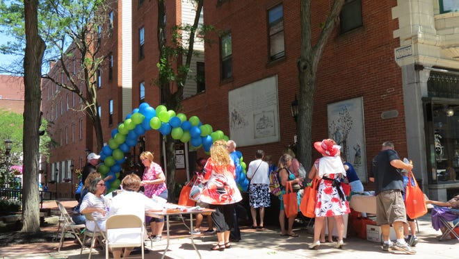 Embracing Aging held an event on First Friday in June, where they provided information to aging adults. YCCF/photo