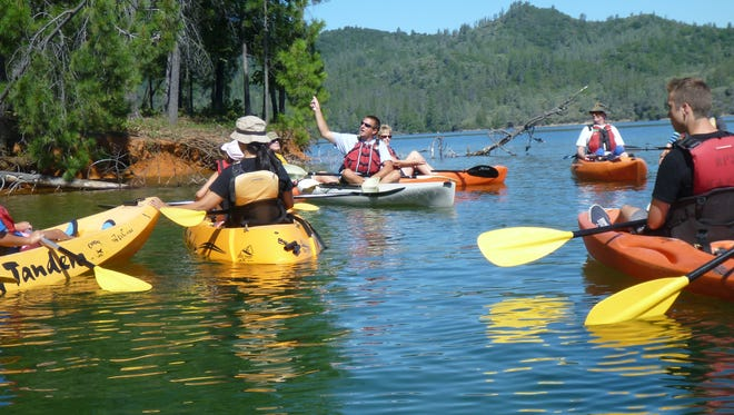 Kayak tours at Whiskeytown National Recreation Area are an opportunity to gain paddling skills and learn about Whiskeytown Lake.