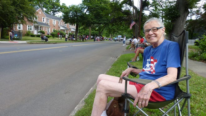 Judy Wussler, of Scotch Plains, at the 94th Annual Central Jersey Independence Day parade in Plainfield.