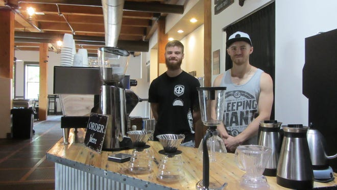 Brothers Jake Zuidema, left, and Jesse Zuidema own the new Al Banco Coffee and Modern Bistro in Machinery Row.