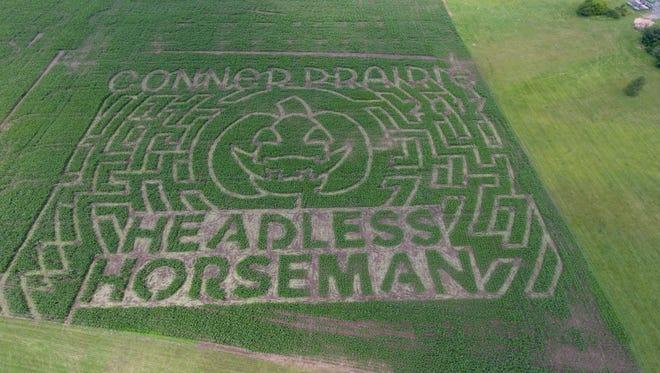 A 7-acre corn maze will open at Conner Prairie Sept. 23.