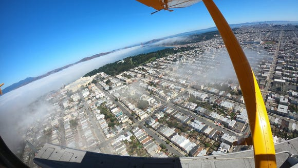 Overlooking San Francisco from a seaplane