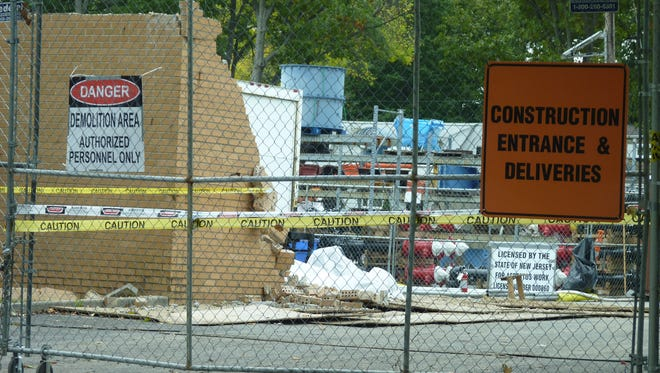 The construction site at the New Jersey American Water facility in Plainfield that is causing concern with some residents.