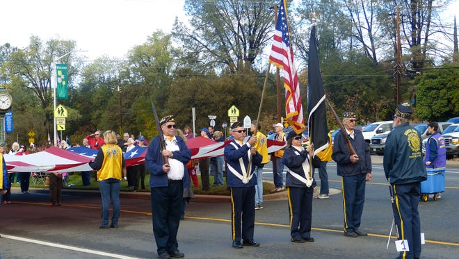The Shasta Lions Club Veterans Day Parade marches Saturday in Shasta Lake.