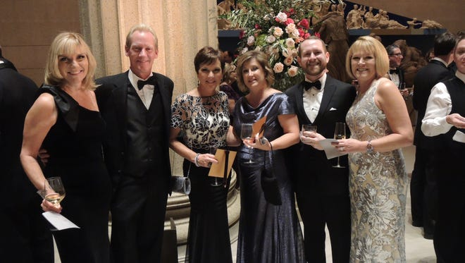 Beth Fortune, left, Todd and Lisa Binns, Tina Smith, Aaron Turner and Debbie Turner at The Conservancy Gala, held at The Parthenon in Centennial Park.