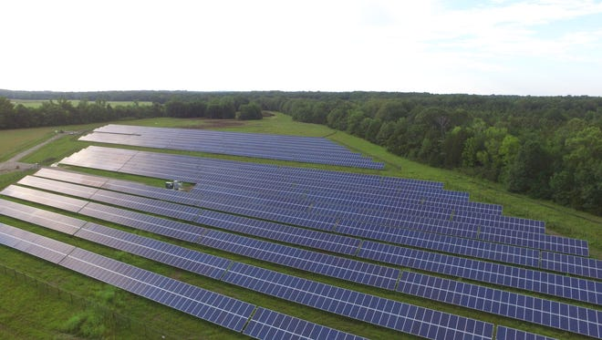 The Music City Solar Project will resemble this 2MW solar project installed by LightWave Solar in Mississippi last year.