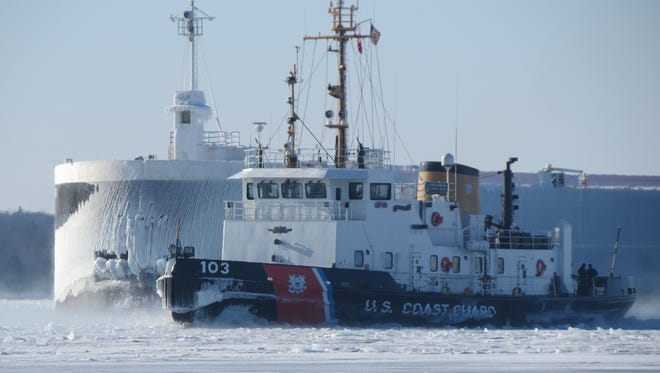 The home port for the U.S. Coast Guard Cutter Mobile Bay is Sturgeon Bay. The vessel is primarily used for icebreaking missions .