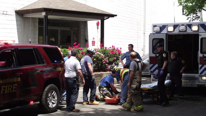 A man fell in Hawthorne on Tuesday. He was expected to survive.