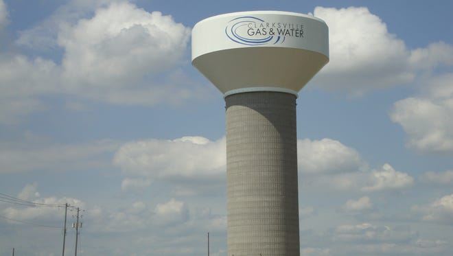 Water tank in Clarksville, Tennessee.