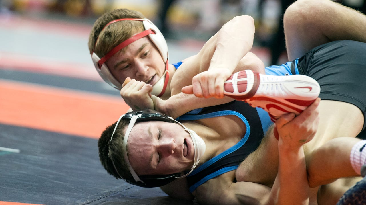 Check out highlights from the District 3 wrestling semifinals and listen to Central York heavyweight Michael Wolfgram discuss how the team handled not having school this week.