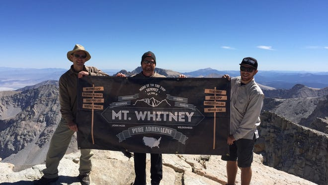 Greg Holubets, Paul Holubets and Connor Holubets (Greg's son) at the summit of Mount Whitney.