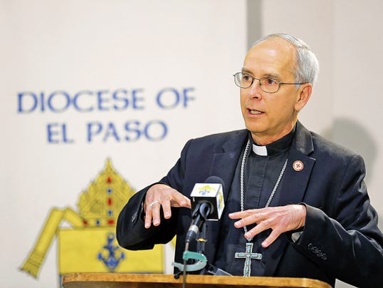 RUBEN R. RAMIREZ—EL PASO TIMES El Paso Catholic Bishop Mark Seitz held a press conference Friday afternoon to announce the church's stance on the same sex marriage announcemnet made Friday after the Supreme Court by a vote of 5-4 gave same sex couples the right to marry in all 50 states.