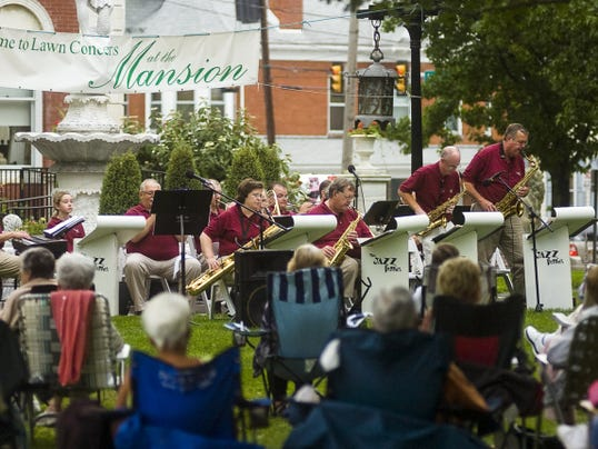 The Jazzberries perform on the lawn of the Warehime-Myers Mansion for the Hanover Area Historical Society's Lawn Concerts at the Mansion in 2014.