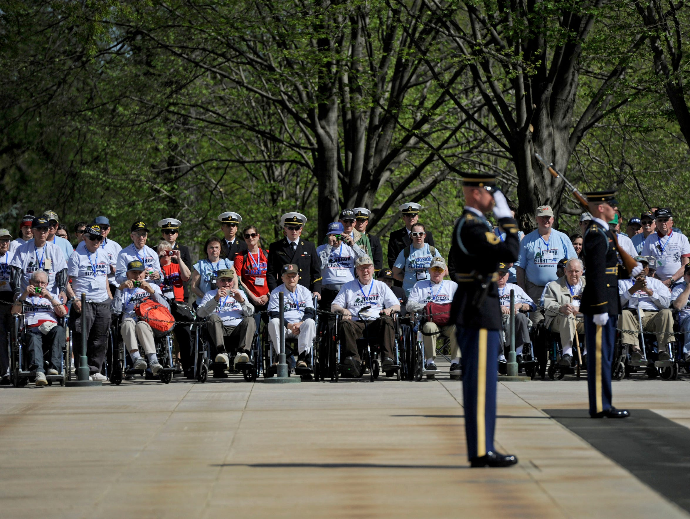 The first stop for the veterans was Arlington National