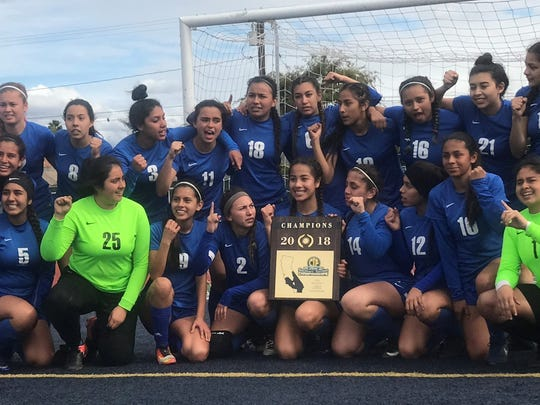 The Fillmore High girls soccer team won the CIF-Southern Section Division 7 final last season.