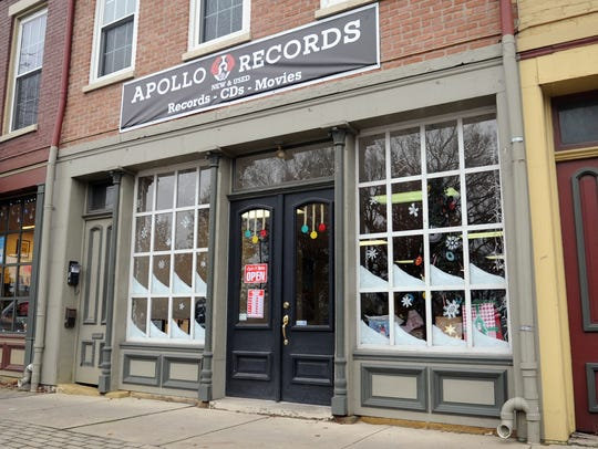 Apollo Records is located at 18 W. Water St. in downtown