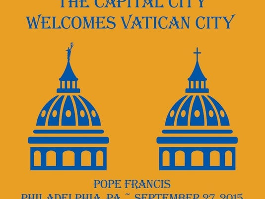 Here is the logo for the Diocese of Harrisburg's Pope T-shirt.
