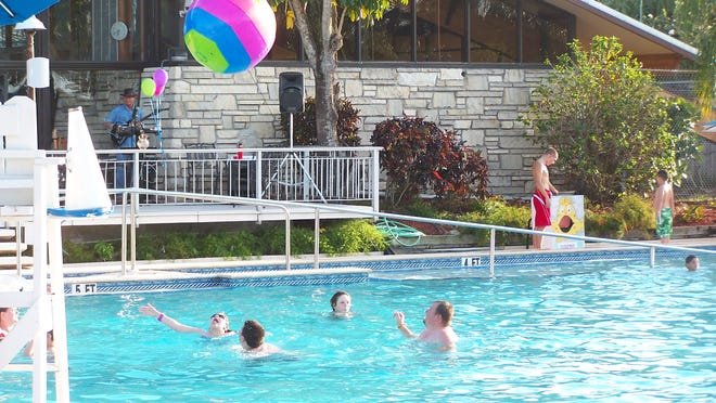 The Yacht Club pool is a popular place during the summer.