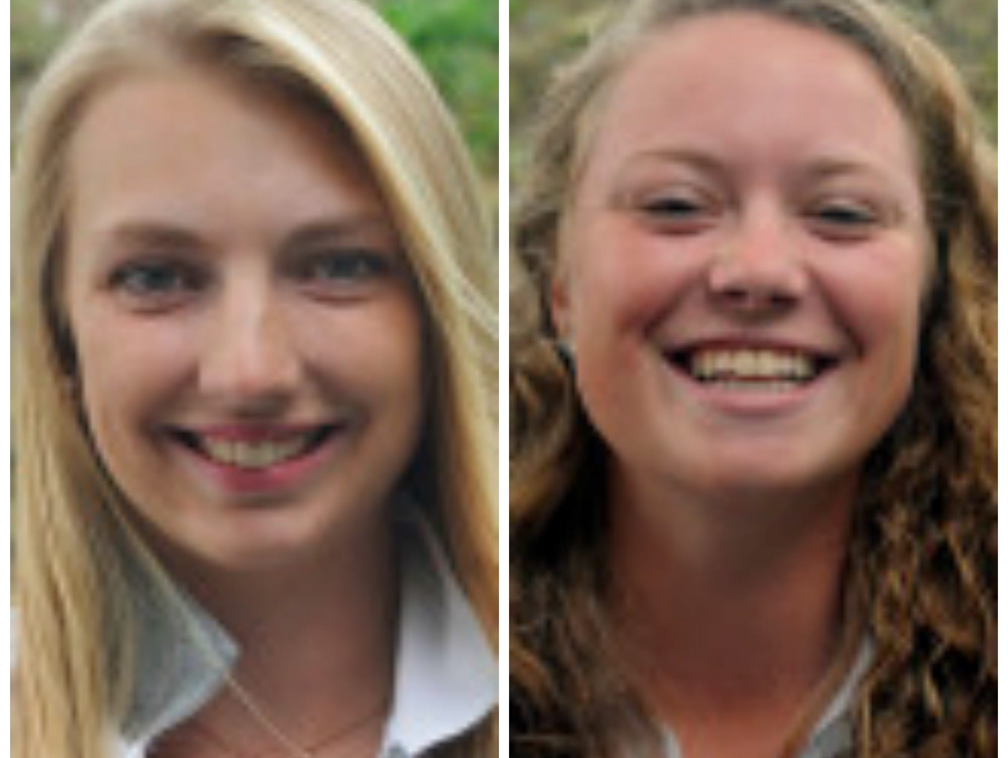 Elle Nichols and Alyssa Albright helped the Oakland University women's golf team win its first league title in program history.