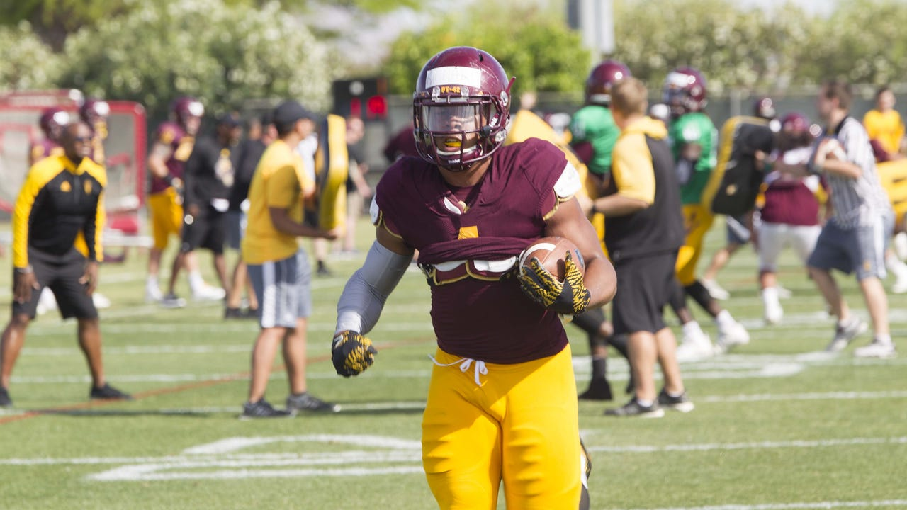 ASU football coach Todd Graham talks about Demario Richard, Christian Hill and more after spring practice on Wednesday, April 5. 