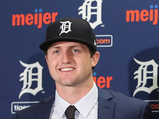 Casey Mize, the first pick in the MLB draft by the