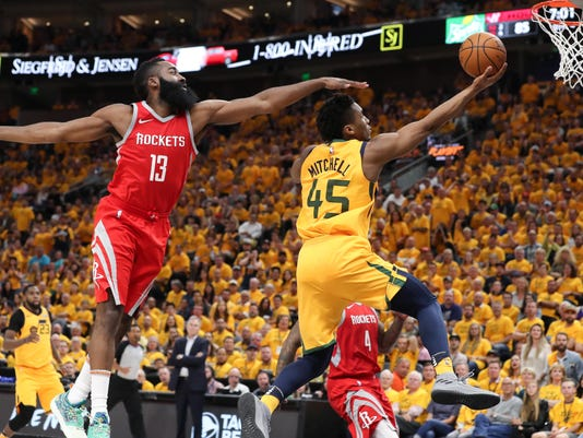 NBA: Playoffs-Houston Rockets at Utah Jazz