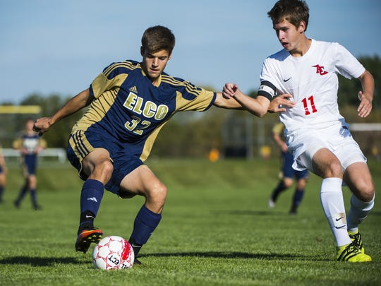 Elco's Clay Hain is one of the top returning boys soccer