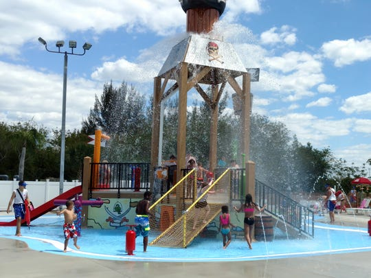 Every 3 minutes, 45 seconds, 500 gallons of water pours over those at Pirate's Cove attraction at Sun Splash Family Waterpark in Cape Coral