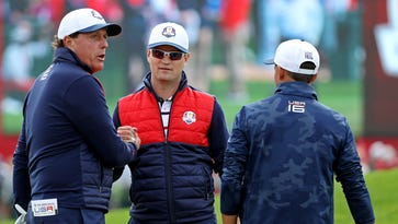 Mickelson is big brother at Ryder Cup