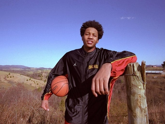 Anthony, raised in New York and Baltimore, went out to Mouth of Wilson, Va., for high school at basketball powerhouse Oak Hill Academy.