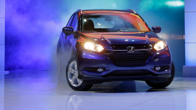 The 2016 Honda HR-V crossover is unveiled at the Los Angeles Auto Show