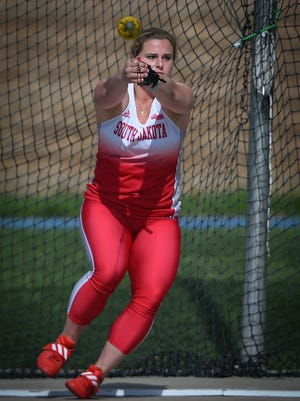 Lara Boman made the switch from soccer player to one of the nation's best hammer throwers.