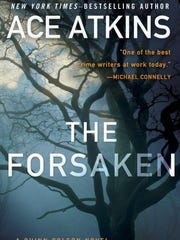 """""""The Forsaken"""" by Ace Atkins, book cover."""
