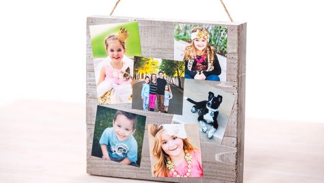 DIY photo collage craft.