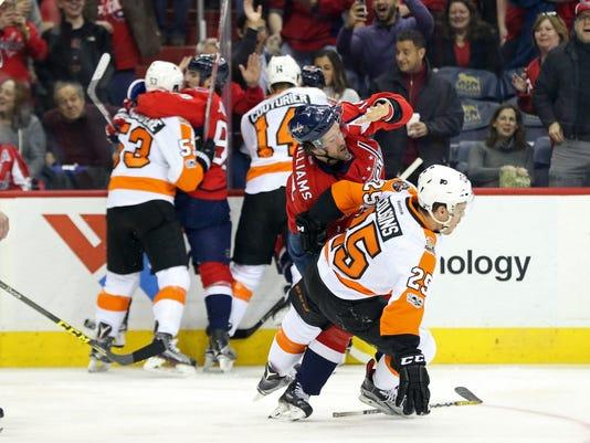 USP NHL: PHILADELPHIA FLYERS AT WASHINGTON CAPITAL S HKN USA DC