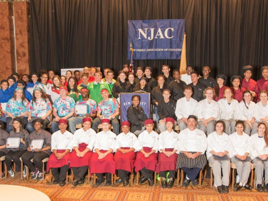 Pictured are the culinary art students from Bergen,